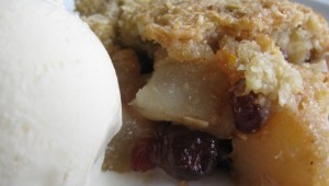 Pear, Apple, Cranberry Crisp