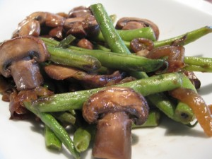 Green Beans & Cremini Mushrooms
