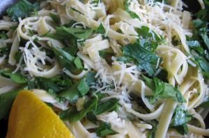 Fettuccini with Asiago, Lemon & Parsley